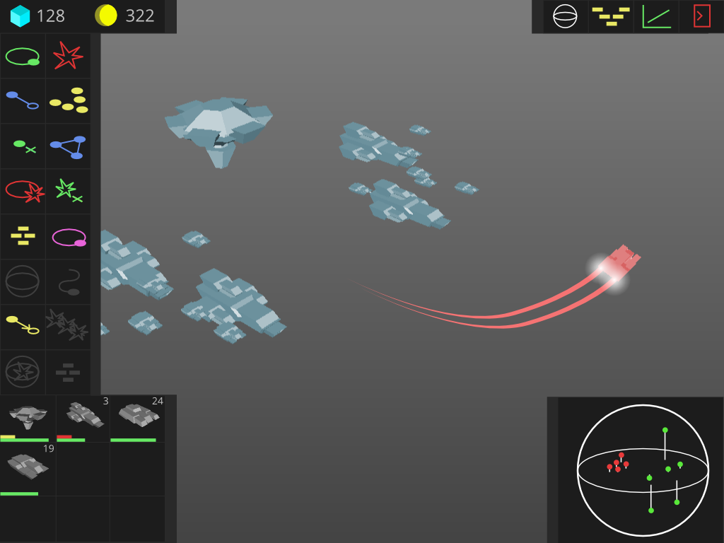 Vaguely Homeworld UI sketch